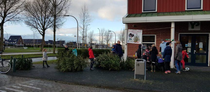kerstbomen inleveren bij de Yp